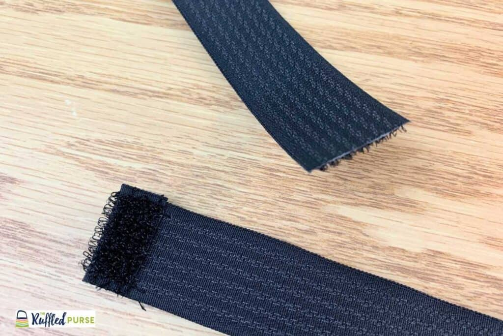 Fold and secure the other end of Velcro strap.