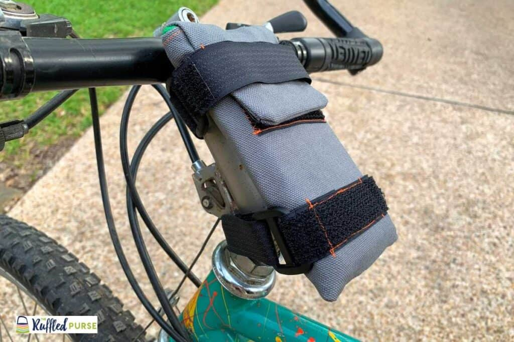 Cell phone holder on bicycle