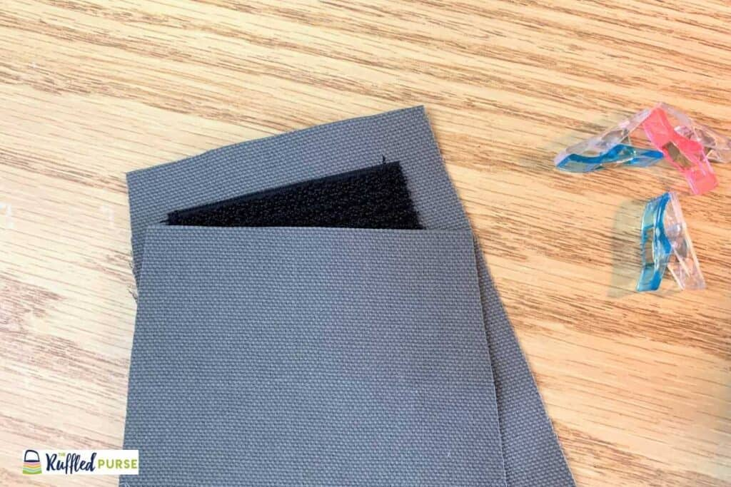Put other flap piece on top of Velcro
