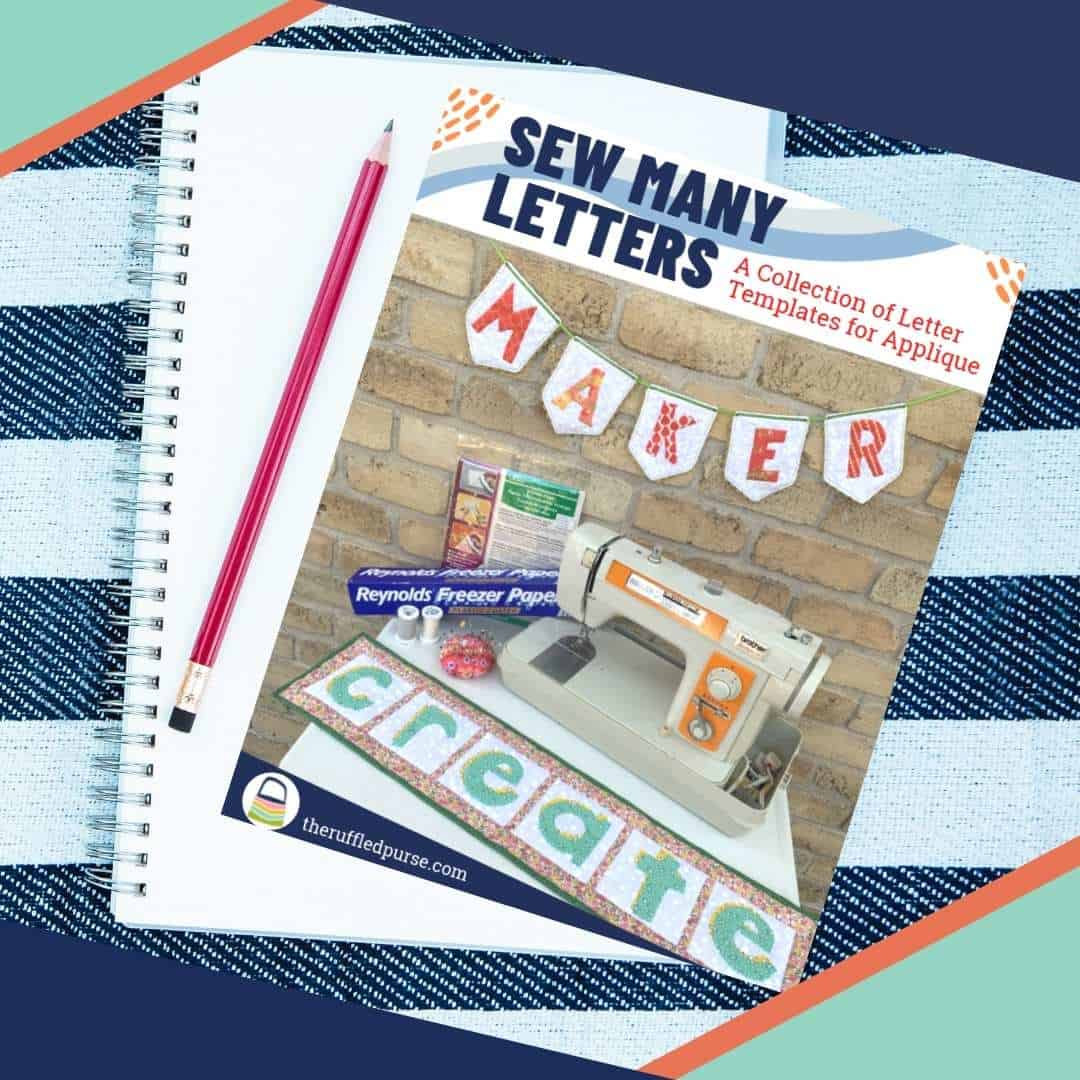 cover of sew many letters product
