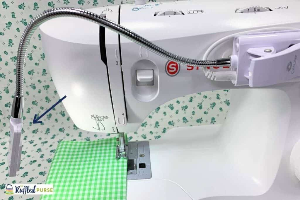 removable light for sewing machine