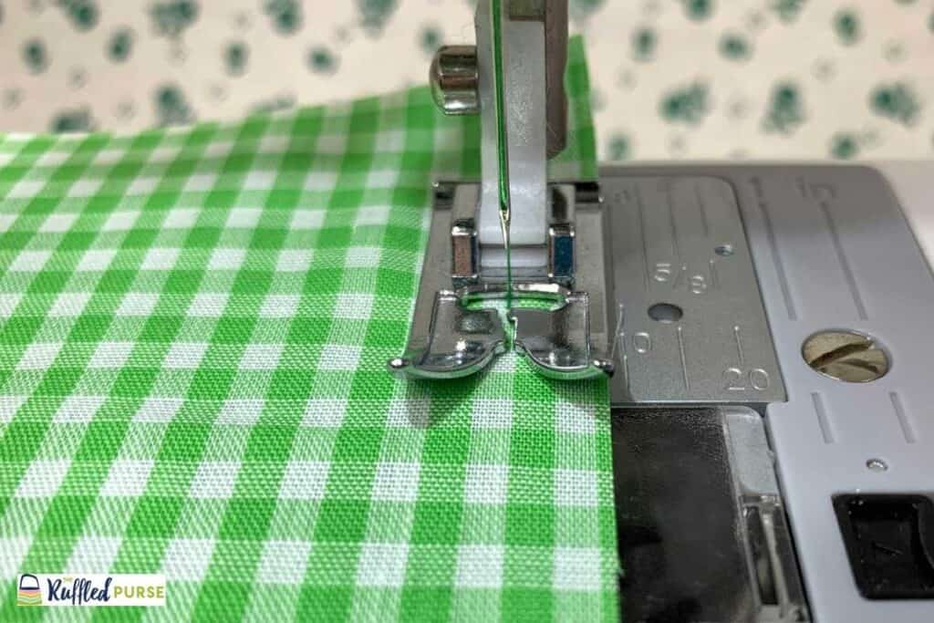 use edge of presser foot for a guide