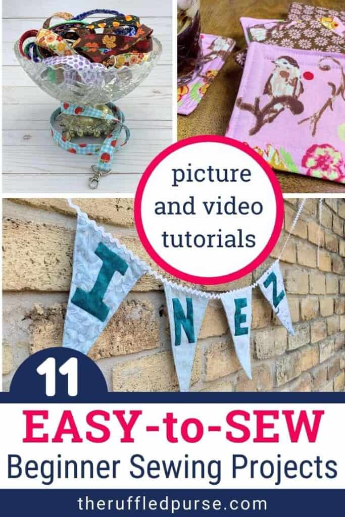 pinterest image for beginner sewing projects