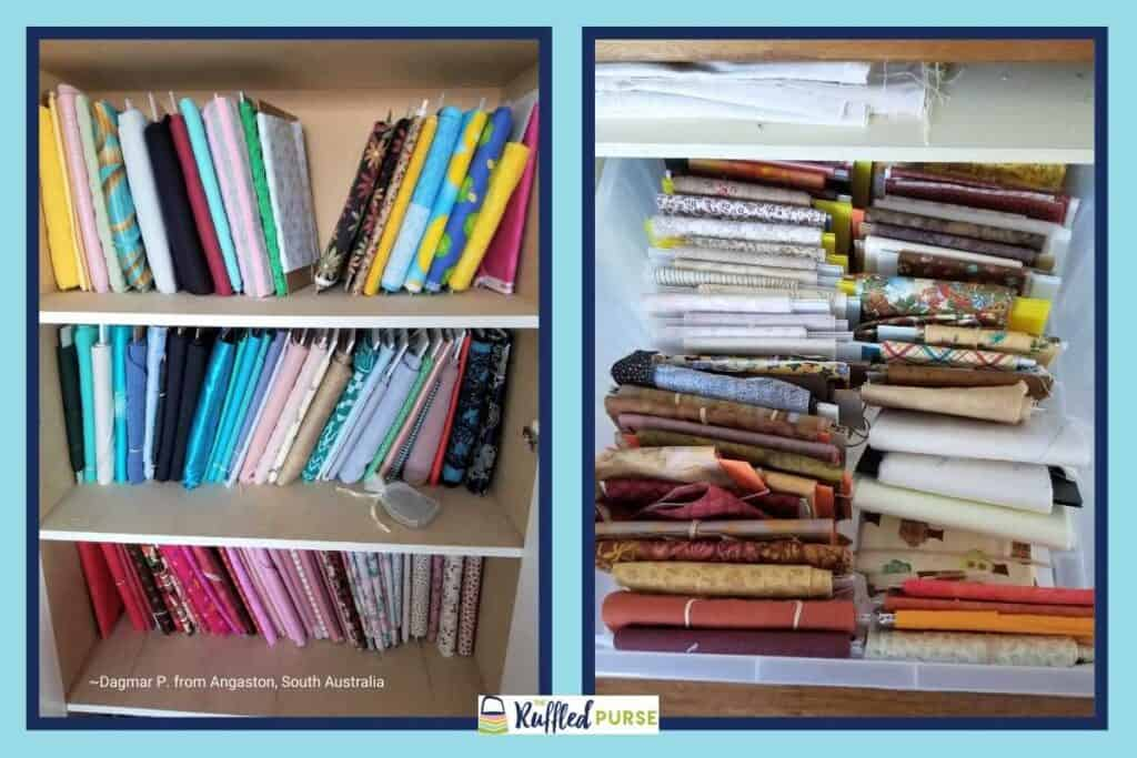 storing large fabric pieces and fat quarters