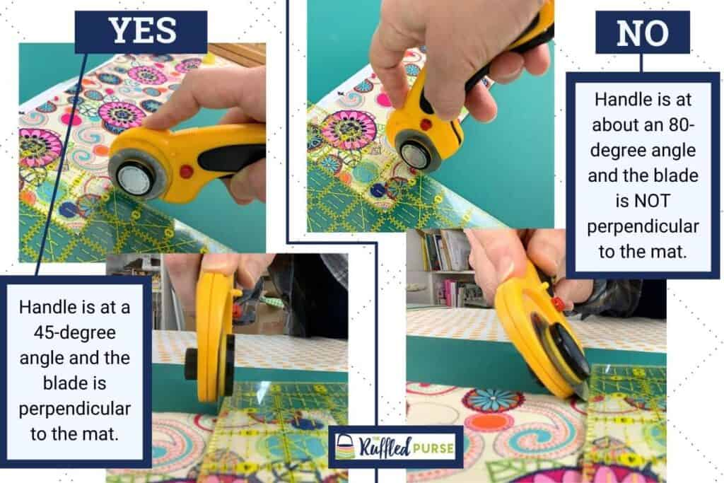 How to hold the rotary cutter