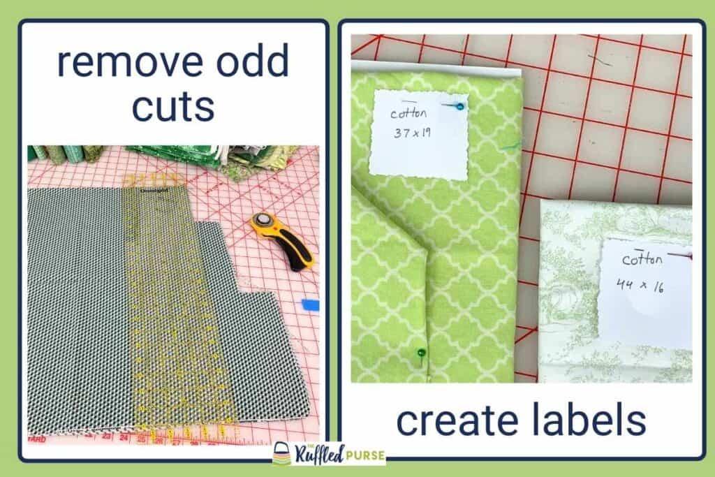 remove odd cuts and create labels
