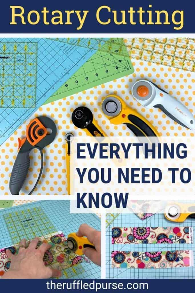 Pinterest image for how to use a rotary cutter