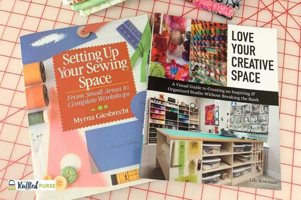 Books about setting up sewing spaces.