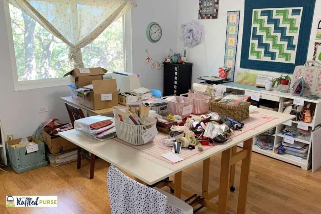 sorting in sewing room