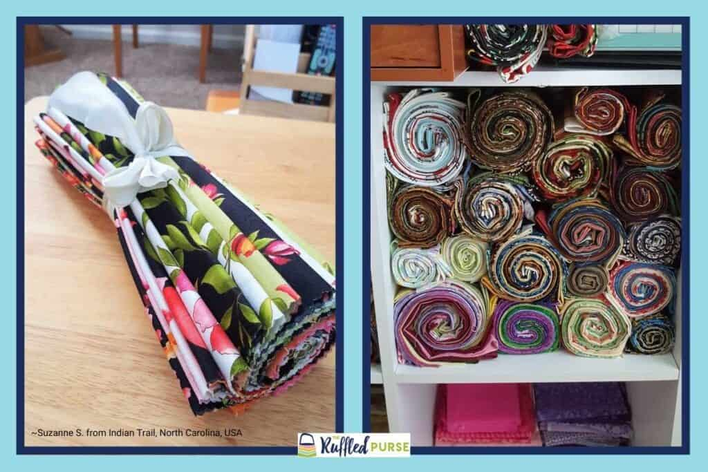 Storing fat quarters and layer cakes