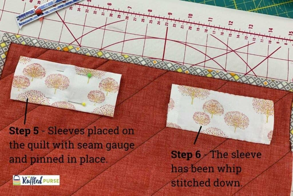 steps 5 and 6 to attach temporary split sleeves
