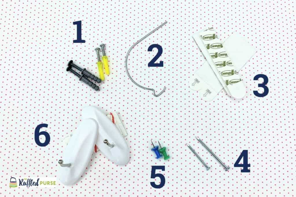 Examples of items that can be used as anchors