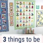 pinterest image of quilts on a wall