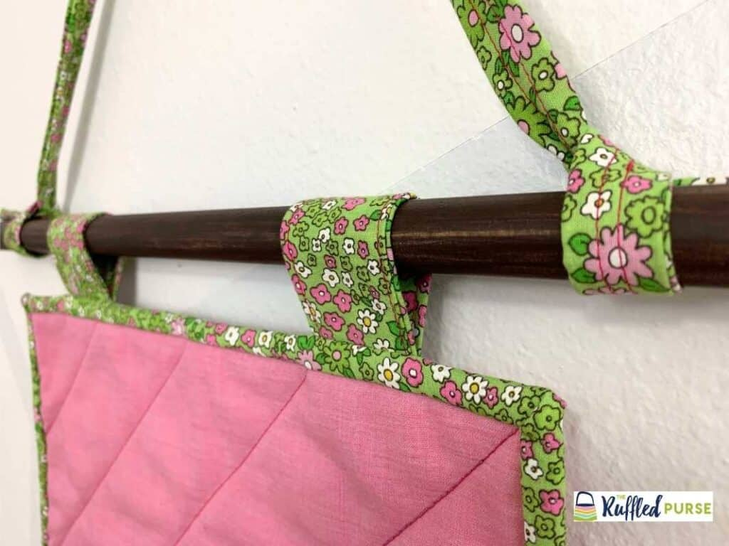 Quilt hanging on a dowel rod