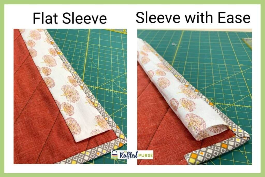 flat sleeve vs sleeve with ease