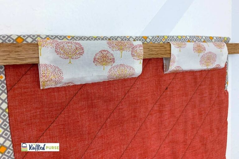 How to Hang a Quilt with Rectangles