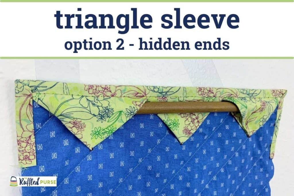 triangle sleeve with rod ends hidden