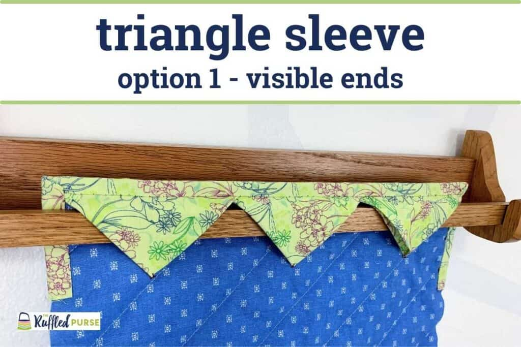 triangle sleeve with the rod ends showing