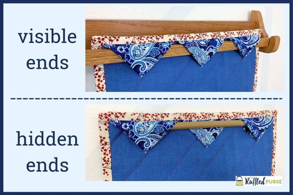 Hang quilts two ways with the triangle sleeve.
