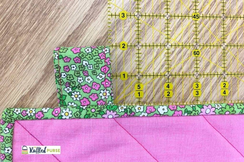 Visible tab next to a quilting ruler to show the height
