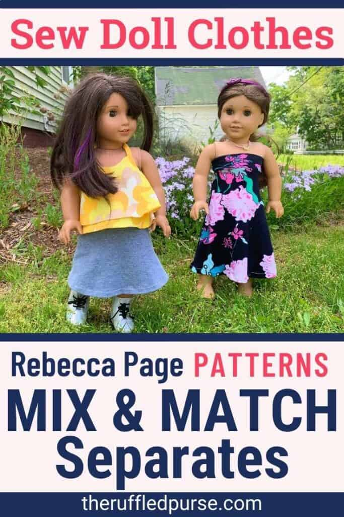 two American girl dolls wearing handmade clothes